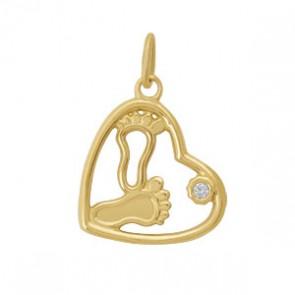 Медальон Бебешки крачета и цирконий