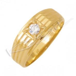 Мъжки пръстен с цирконий 3