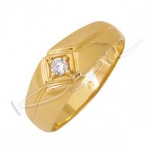 Мъжки пръстен с цирконий 4